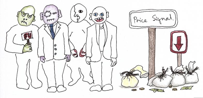 Price signal for greenbacks