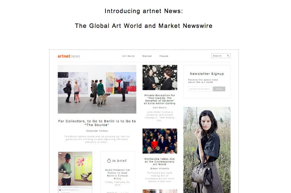 artnet email screengrab